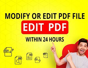I will Modify or edit  your pdf files