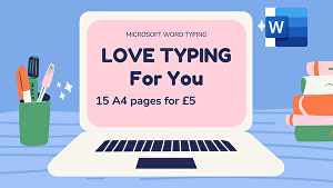 I will type 15 pages