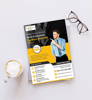 I will design  conference, flat, marketing one pager flyer