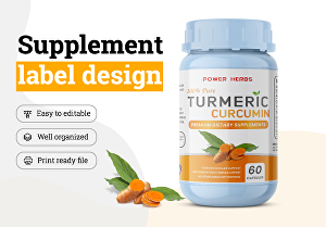 I will do Supplement label design and  Hemp oil label Design