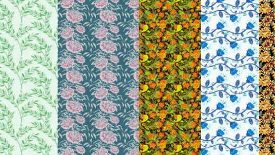 make a professional pattern design for fabric or wallpaper