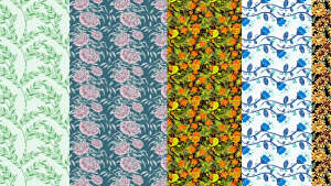 I will make a professional pattern design for fabric or wallpaper