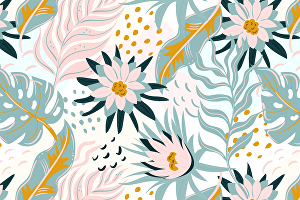 I will illustrate and make print ready seamless pattern design