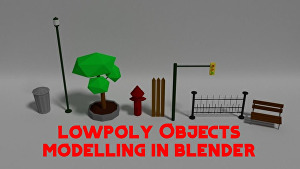 I will Model Low Poly Objects