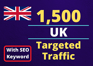 I will Provide You with 1500 UK Country Targeted Traffic