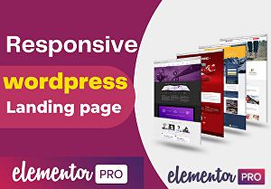 I will build an attractive Wordpress landing page, squeeze page by elementor pro