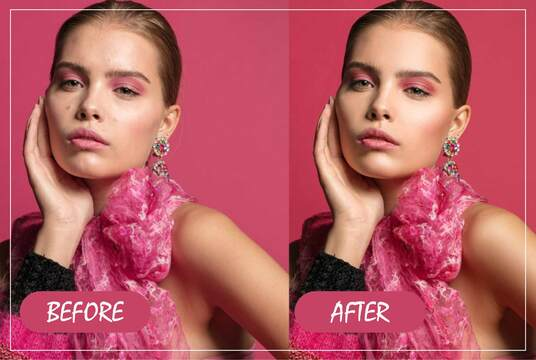 do professional photoshop retouching, fast and high quality