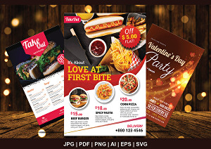 I will design food flyer, restaurant menu, poster