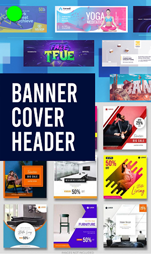 I will Design Professional Looking Cover, Banner, Header Image for your Website, Blog or Marketin