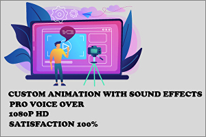 I will make creative 2d animated video