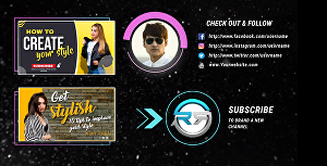 I will create an amazing youtube outro end screen