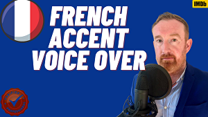 I will voice over 50 words in a Brilliant French accent in 24 hours