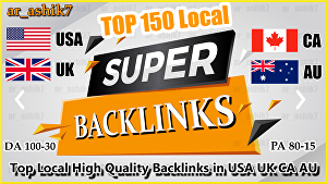 I will do top 20 USA UK ca au local seo backlink, link building for google ranking