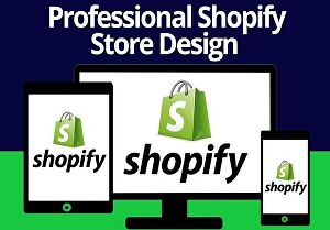 I will create a one product Shopify store