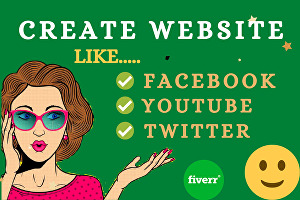 I will create a social media website like a Facebook, youtube, Twitter clone