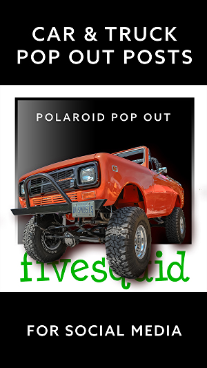 I will create car pop-out polaroid style social media posts