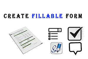 I will create PDF form or convert to a fillable pdf form