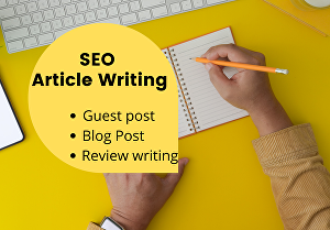 I will write a guest post or blog post article from 400 to 700 words on a topic of your choice