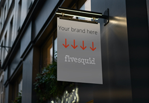 I will create a stunning shop sign photo with your brand on it