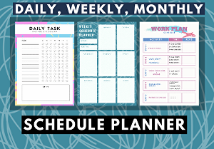 I will Design your daily, weekly and monthly planner