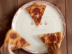 I will create a pizza plate logo reveal