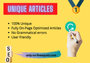 I will write a unique article with on-page SEO for your blog that ranks