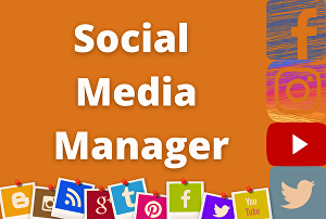 I will be your social media  manager