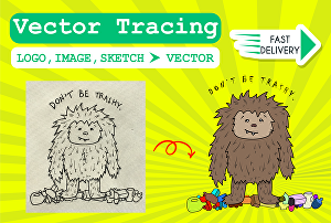 I will vectorize logo and  convert image to vector for you