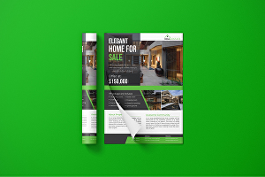 I will do flat advertising flyer design