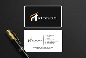 I will design flat business card