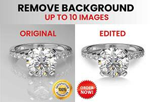 I will remove background of 10 images fast