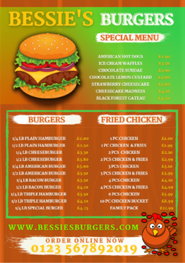 create cartoon comic pop out effect food drink menu with or without animation