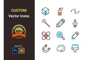 I will design professional App and Web Icons
