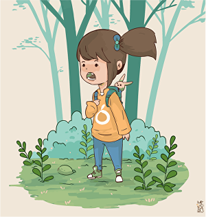 I will design flat character illustration