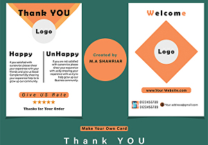 I will Design Your Thank You Card