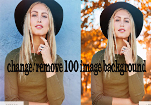 I will  Change or remove background of 100 images
