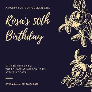 I will design beautiful  invitation card for birthday party