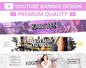 I will design an awesome youtube banner or logo