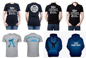 I will mockup your design on apparels and merchandise products