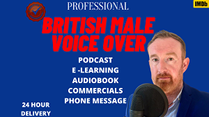 I will voice over 100 words in a professional British Male RP BBC style in 24 hours