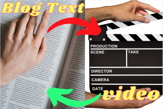 convert blog post article, text to video with voice over any text to video edit