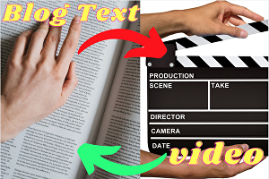 I will convert blog post article, text to video with voice over any text to video edit
