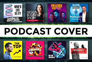I will design creative podcast cover art and podcast logo
