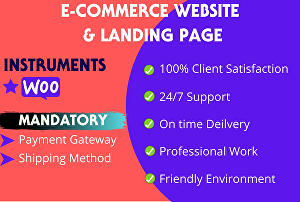 I will do ecommerce website, woocommerce store website, online store and shop