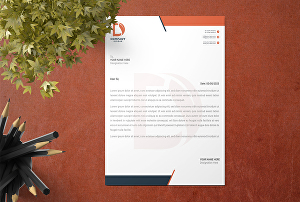 I will design professional letterhead and business card design