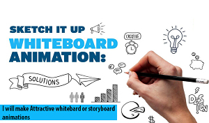 I will present attractive whiteboard or storyboard videos