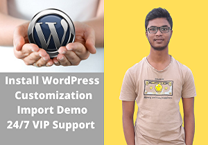 I will install, setup and customize wordpress website