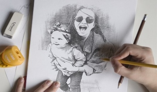 draw a realistic pencil portrait from your photo