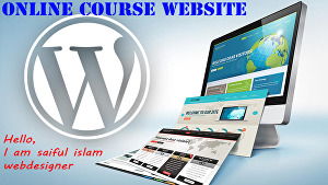 I will design online course school website