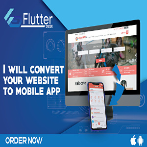 I will  convert your website to an Android mobile app with Flutter